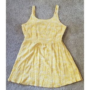 Yellow Sea Shell Fit and Flare Dress